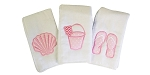 Beach Gal Set of 3 Burp Cloths