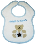 Available for Playdate Feeder Bib- Blue