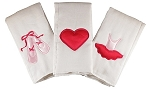 Ballet Set of 3 Burp Cloths