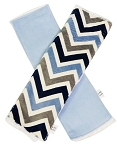 Denim Chevron Burp Cloth Set of 2