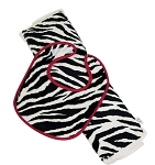 Zebra Bib & Burp Set