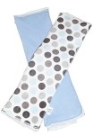 Blue & Grey Dot Burp Cloth Set of 2
