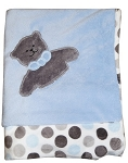 Blue & Grey Dot Blanket