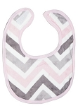 Chevron Mary Small Fabric Bib