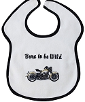 Born to Be Wild Feeder Bib