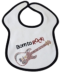 Born to Rock Feeder Bib