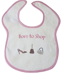 Born to Shop Feeder Bib