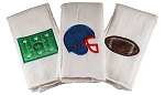 Football Set of 3 Burp Cloths