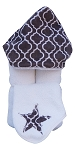 Trellis Hooded Towel on White
