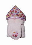 Cupcakes Hooded Towel on Pink