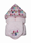 Lipstick Hooded Towel on Pink