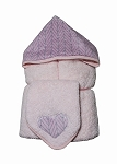 Pink Herrngbone Hooded Towel on Pink