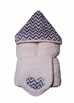 Pink & Silver Chevron Hooded Towel on Pink