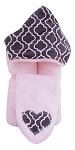 Trellis Hooded Towel on Pink
