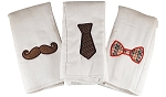 Lil' Mister Set of 3 Burp Cloths