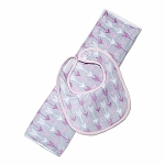 Arrows Pink Bib & Burp Set