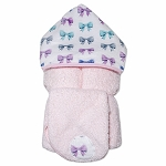 Bows Hooded Towel w/washcloth