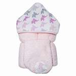Elephants Pink Hooded Towel w/washcloth