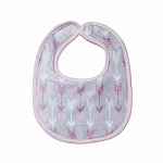 Pink Arrows Small Fabric Bib