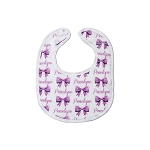 Personalized Bows Small Fabric Bib