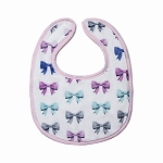 Bows Small Fabric Bib