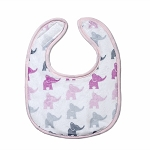 Elephant Pink Small Fabric Bib