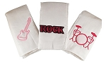 Music Set of 3 Burp Cloths- Pink