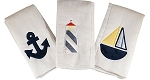 Nautical Set of 3 Burp Cloths