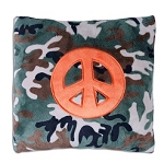 Camo Peace Sign Pillow