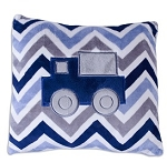 Denim Chevron Truck Pillow