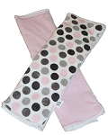 Pink & Grey Dot Burp Cloth Set of 2