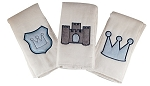 Lil Prince Set of 3 Burp Cloths