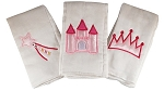 Princess Set of 3 Burp Cloths