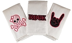 Rock Star-Girls Set of 3 Burp Cloths