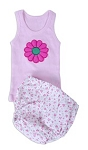 Tiny Roses Diaper Cover & Tank Set