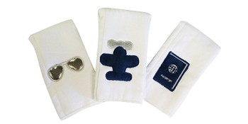 Lil Jetsetter Set of 3 Burp Cloths