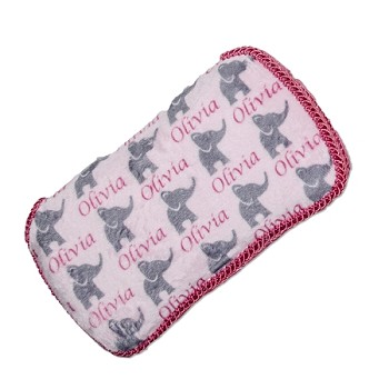 Personalized Pink Elephants Hard Wipe Case