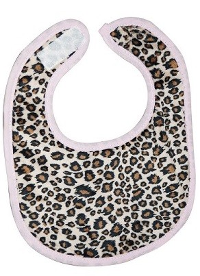Cheetah Small Fabric Bib