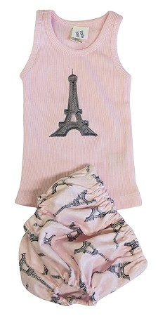 Paris Diaper Cover & Tank Set