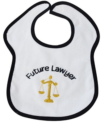 Future Lawyer Feeder Bib