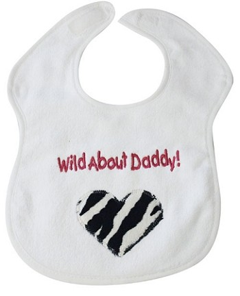 Wild About Daddy! Feeder Bib- Pink