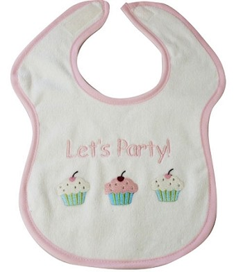 Let's Party Feeder Bib