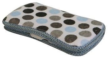Blue & Grey Dot Hard Wipes Case