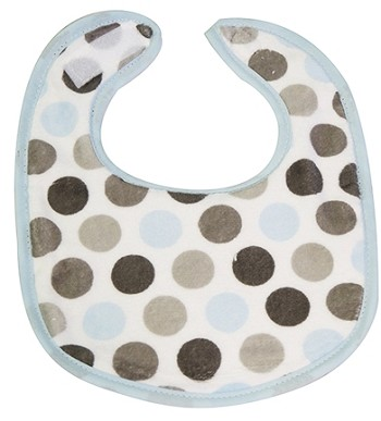 Blue & Grey Dot Small Fabric Bib