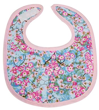 Cherry Blossom Small Fabric Bib