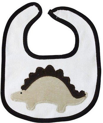 Dinosaur Tan & Brown Small Bib