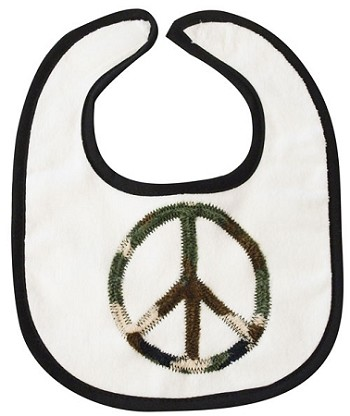 Camo Peace Sign Small Bib