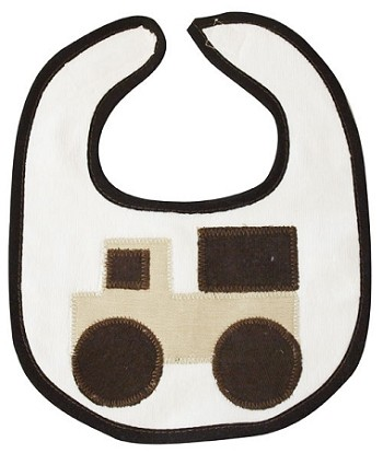 Truck Small Bib- Tan & Brown