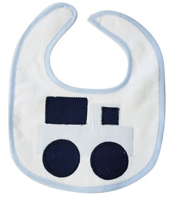 Truck, Blue & Navy Small Bib